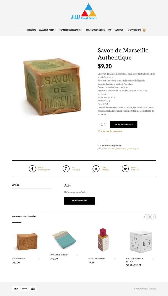 Agitatrice de solutions - Projet Allia Design & Cultures - Web - Vente en ligne - Fiches produits