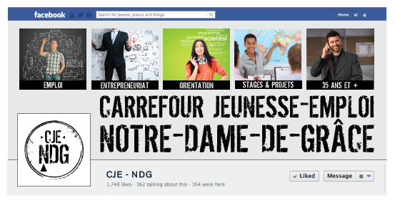 Agitatrice de solutions - Projet CJE NDG - Branding - Communication - Bandeau Facebook
