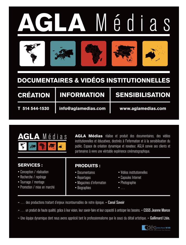 Agitatrice de solutions - Projet Agla Médias - Branding - Imprimé - Document corporatif
