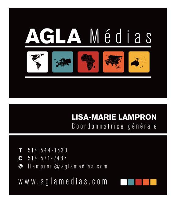 Agitatrice de solutions - Projet Agla Médias - Branding - Imprimé - Carte d'affaires