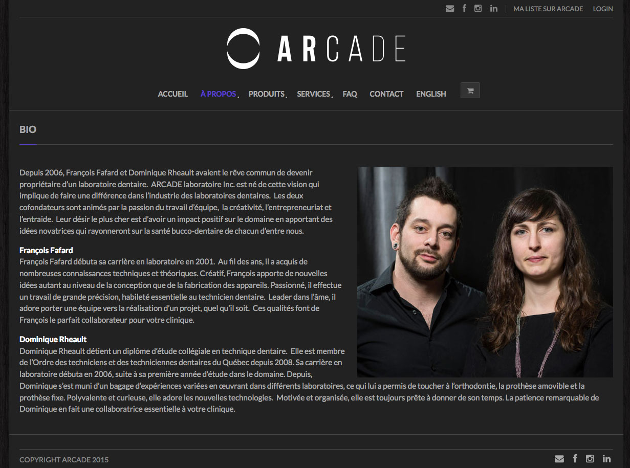Agitatrice de solutions - Projet Arcade - Web - Site informationnel