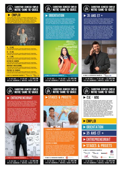 Agitatrice de solutions - Projet CJE NDG - Branding - Imprimé - Pochette dépliants Services