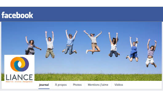Agitatrice de solutions - Projet Liance - Branding - Communication - Bandeau Facebook