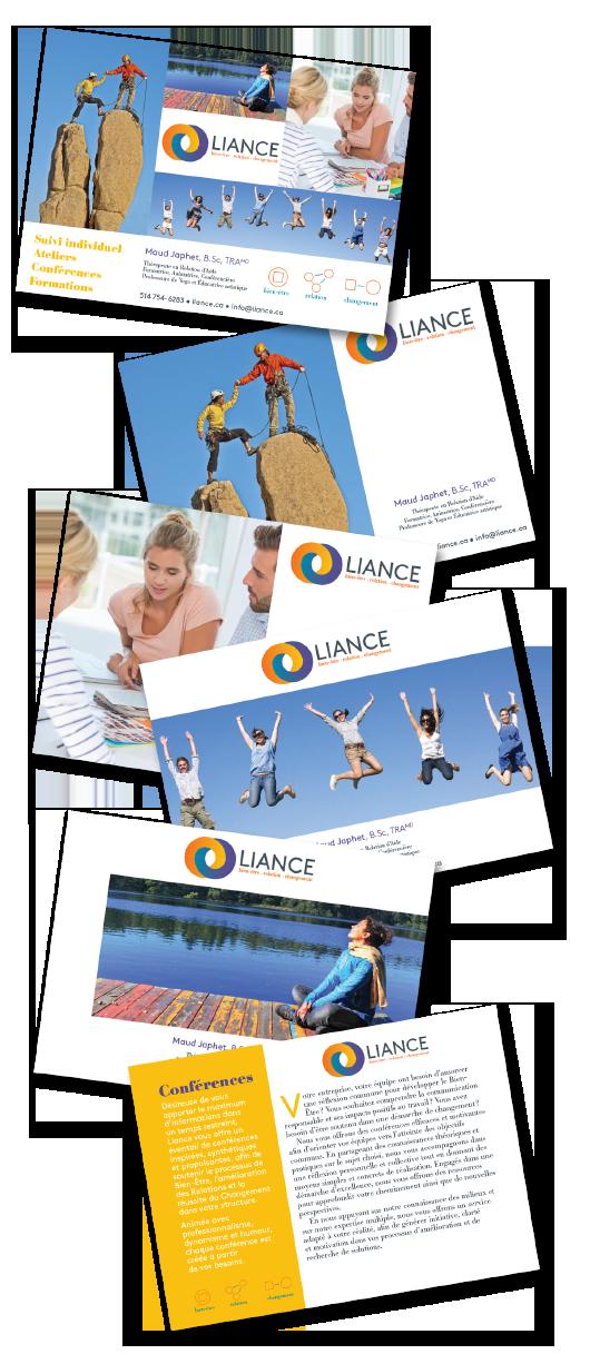 Agitatrice de solutions - Projet Liance - Branding - Communication - Imprimés - Documents corporatifs