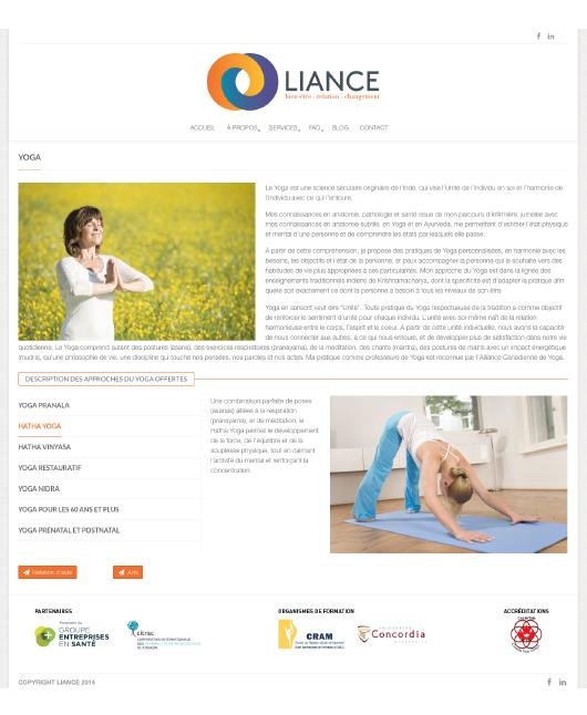 Agitatrice de solutions - Projet Liance - Branding - Communication - Site Web - Page destination