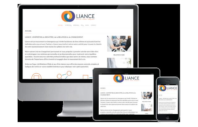 Agitatrice de solutions - Projet Liance - Branding - Communication - Site Web - Responsive