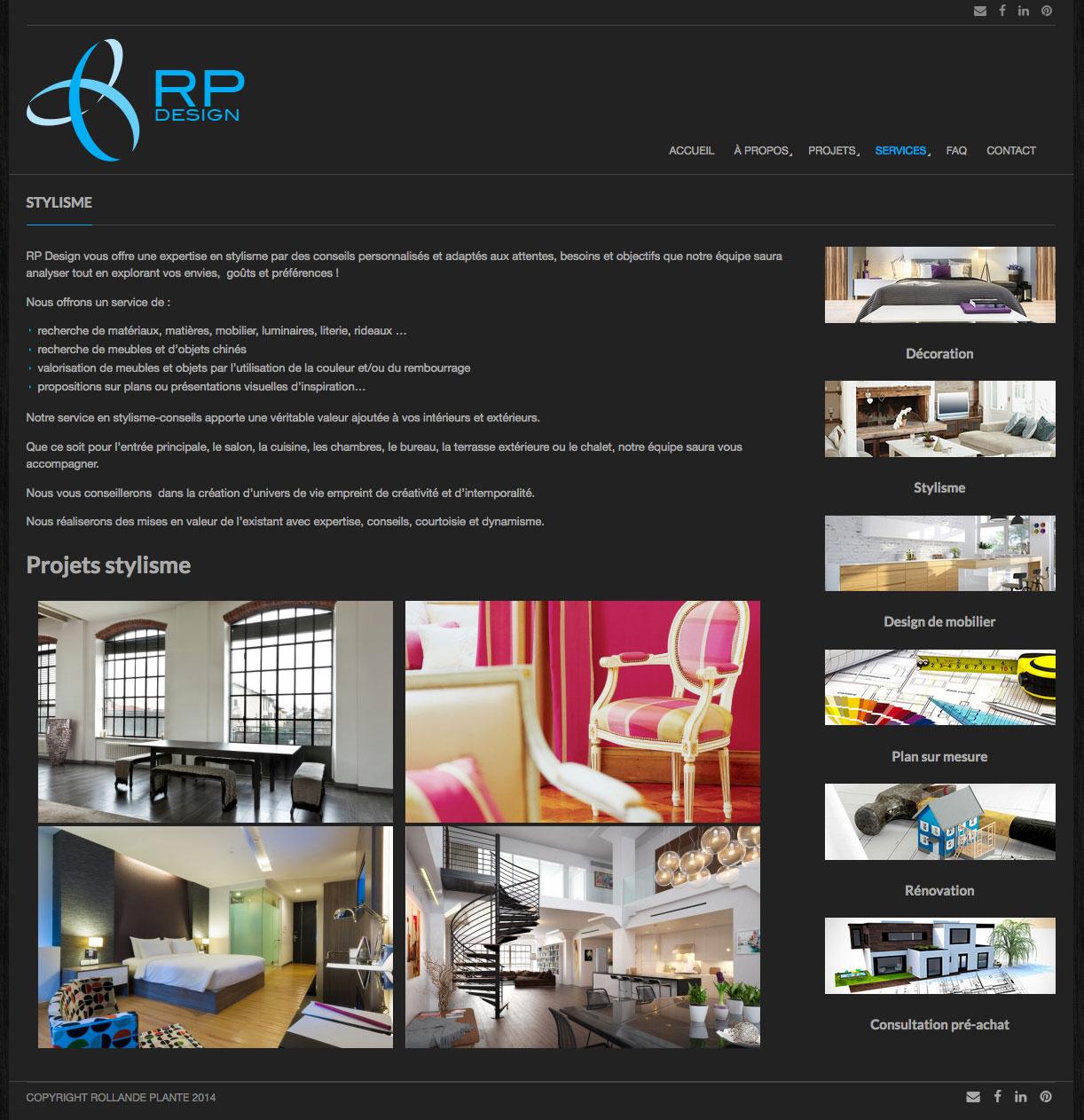 Agitatrice de solutions - Projet RP Design - Branding - Communication - Site Web - Page destination