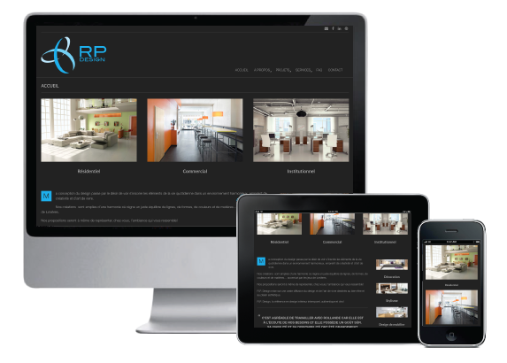 Agitatrice de solutions - Projet RP Design - Branding - Communication - Site Web - Responsive
