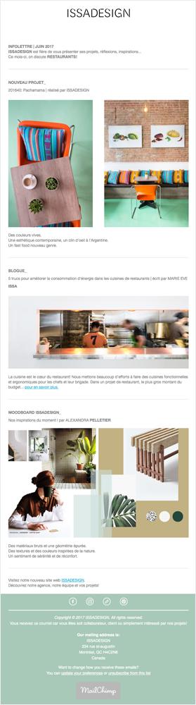 Agitatrice de solutions - Projet Issa Design - Branding - Communication - Stratégie éditoriale - Infolettre