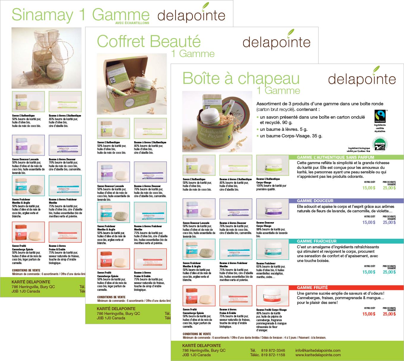 Agitatrice de solutions - Projet Karité Delapointe - Branding - imprimé - Fiches produits