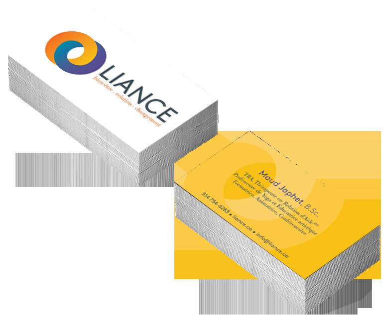Agitatrice de solutions - Projet Liance - Branding - Communication - Carte d'affaires